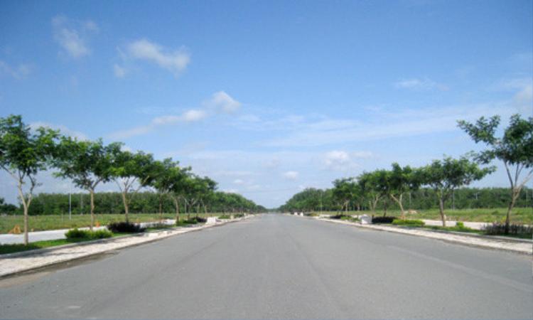 Đường Tôn Đức Thắng, đoạn qua xã Phú Hội, huyện Nhơn Trạch, nơi người dân phát hiện chị Phương giữa bóng đêm.