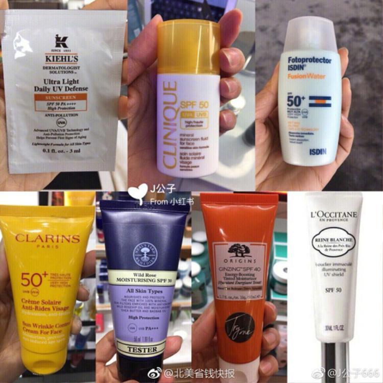 Trong đó có một số thương hiệu quen thuộc với chị em như Shiseido, Clarins, Biore, L'Occitane…