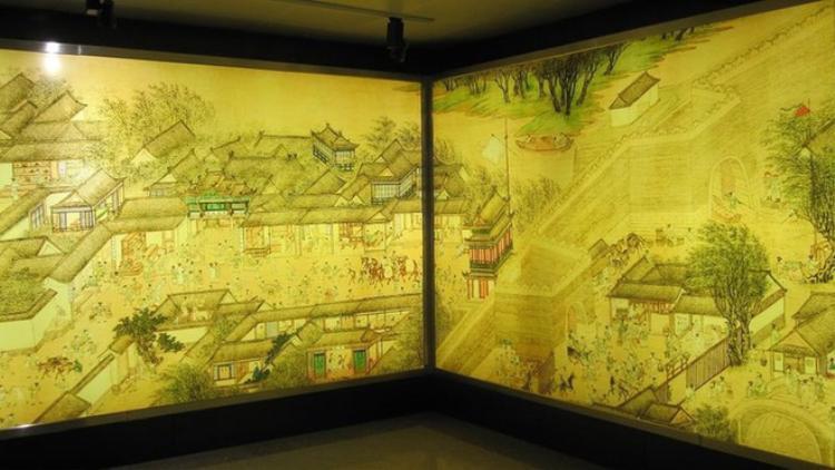 """Một góc của bức họa phẩm """"Thanh minh thượng hà đồ"""" nổi tiếng được lưu giữ tại Cố Cung. Ảnh: Baidu"""
