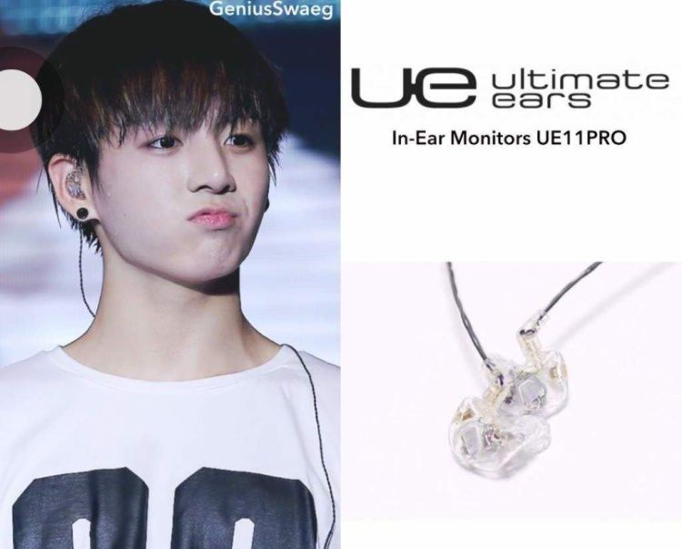 UE11Pro đến từ Ultimate Ears là lựa chọn của Jungkook.