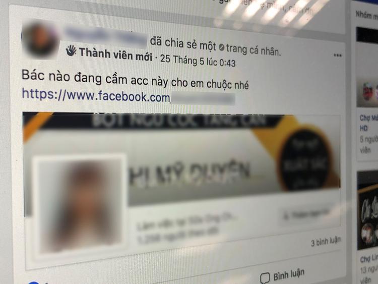 Nạn nhân sẽ nhờ bên môi giới đăng tin tìm chuộc tại một nhóm chợ đen trên Facebook.