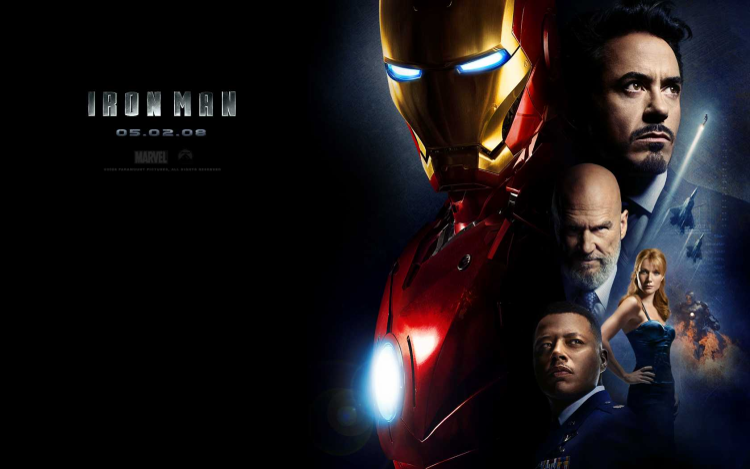 Iron Man là siêu anh hùng đầu tiên được Marvel đưa lên màn ảnh rộng.