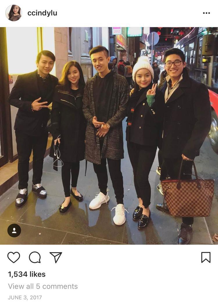 Hình ảnh gần nhất có mặt Hoài Lâm trên các tài khoản mạng xã hội của Cindy Lư vào khoảng cách đây 1 năm trước nhưng không phải hình riêng của cả hai mà là hình đi chung cùng nhóm bạn.