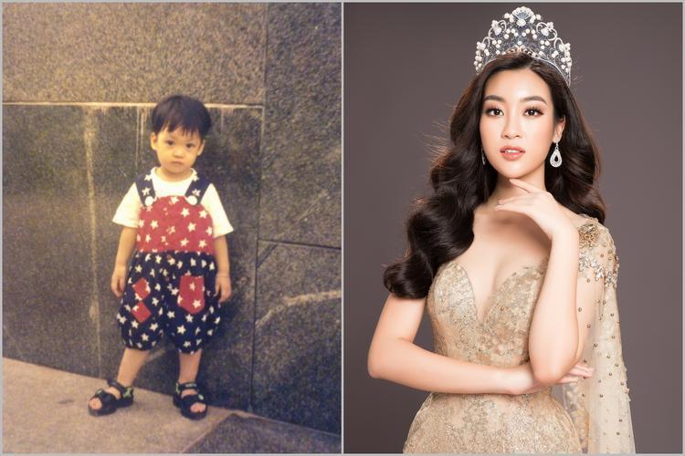 Hoa hậu Đỗ Mỹ Linh trông như con trai thời bé.
