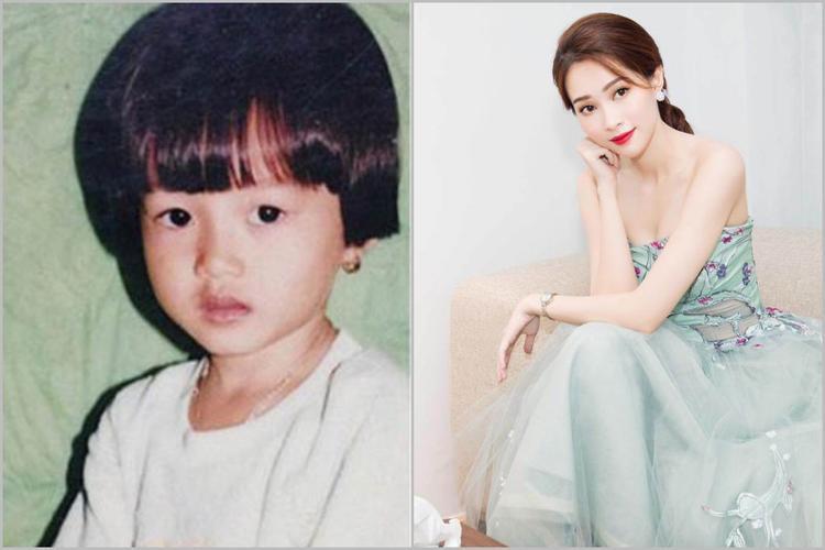 Hoa hậu Đặng Thu Thảo với những đường nét hiền lành có từ ngày bé.