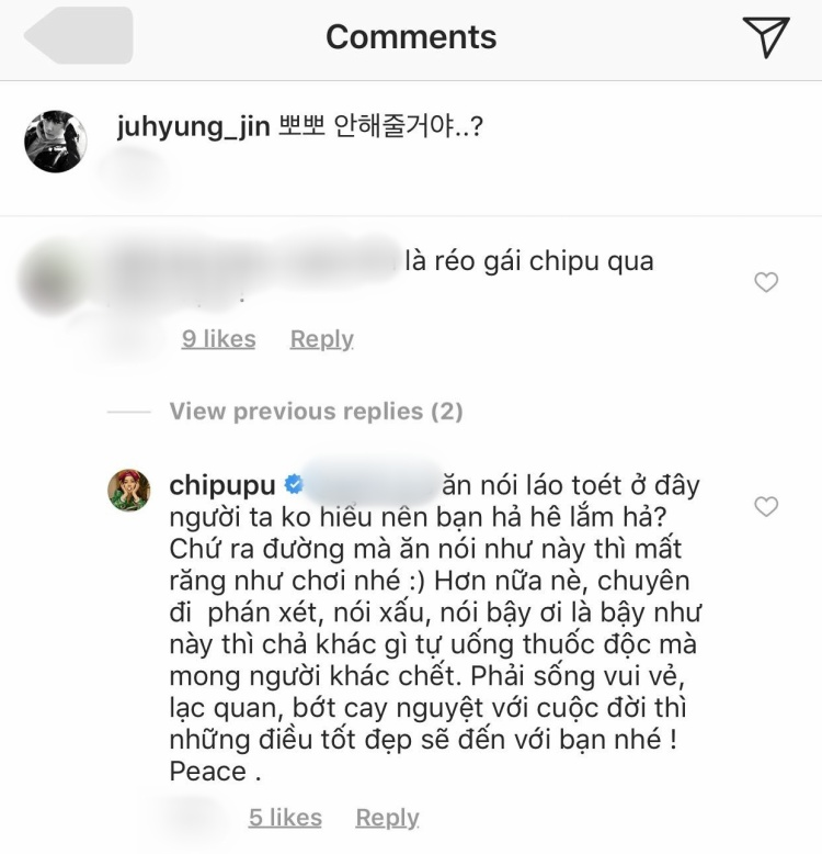 Bạn trai tin đồn Jin Ju Hyung bị anti-fan bình luận tục tĩu, Chi Pu lập tức đáp trả dằn mặt