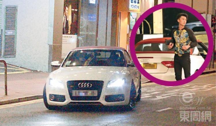 TờEastweek đăng loạt ảnh Vương Hạo Tín nửa đêm lái xe đến nhà Thái Tư Bối.
