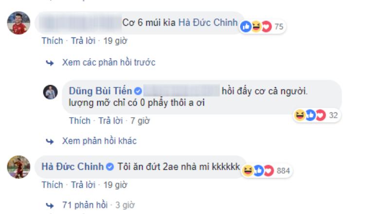 Bình luận của Hà Đức Chinh khiến dân mạng lăn ra cười.