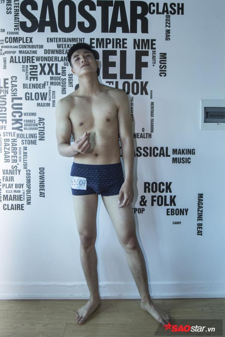 Ghi danh tại chương trình Siêu mẫu Việt Nam, Kiên mong muốn sẽ được trau dồi thêm nhiều kỹ năng của bản thân và hướng tới con đường người mẫu chuyên nghiệp.