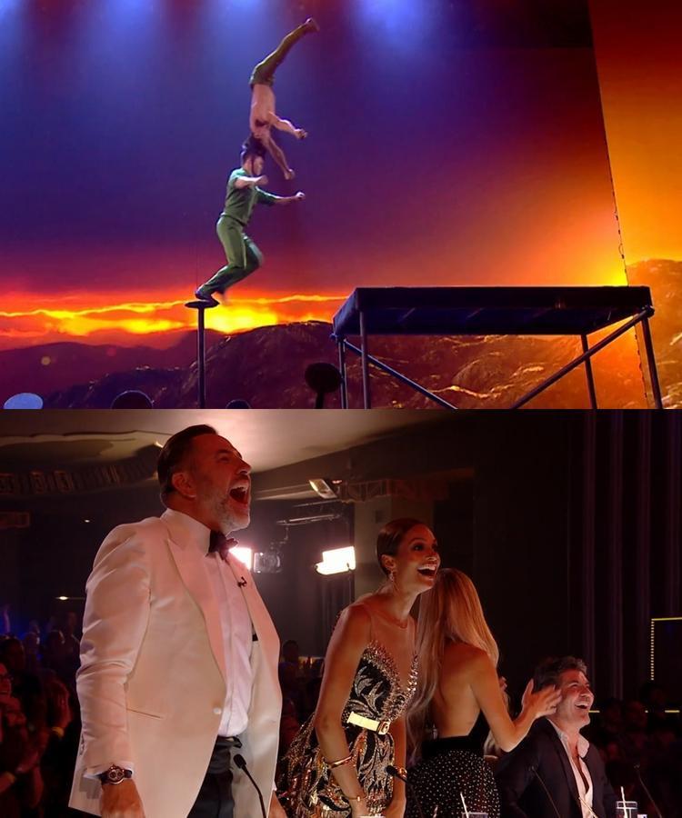 Thót tim với cú nhảy chồng đầu xuất thần của Quốc Cơ  Quốc Nghiệp tại chung kết Britains Got Talent