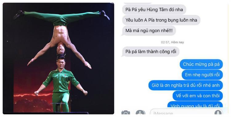 Niềm vui đầu tiên mà Quốc Nghiệp làm chỉ là nhắn đôi dòng tin gửi vội về Việt Nam cho vợ. Rằng:Hôm nay, anh thành công rồi!