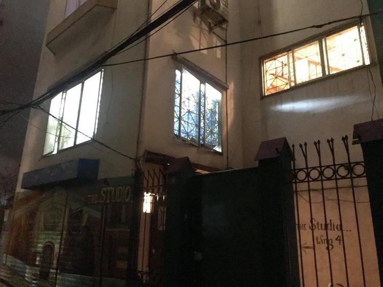 Ngôi nhà 4 tầng, nơi xảy ra vụ việc.