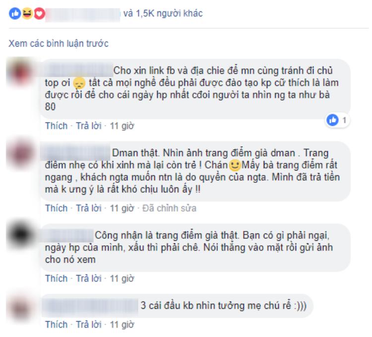 Các bình luận của chị em trong hội nhóm. (Ảnh: Facebook)