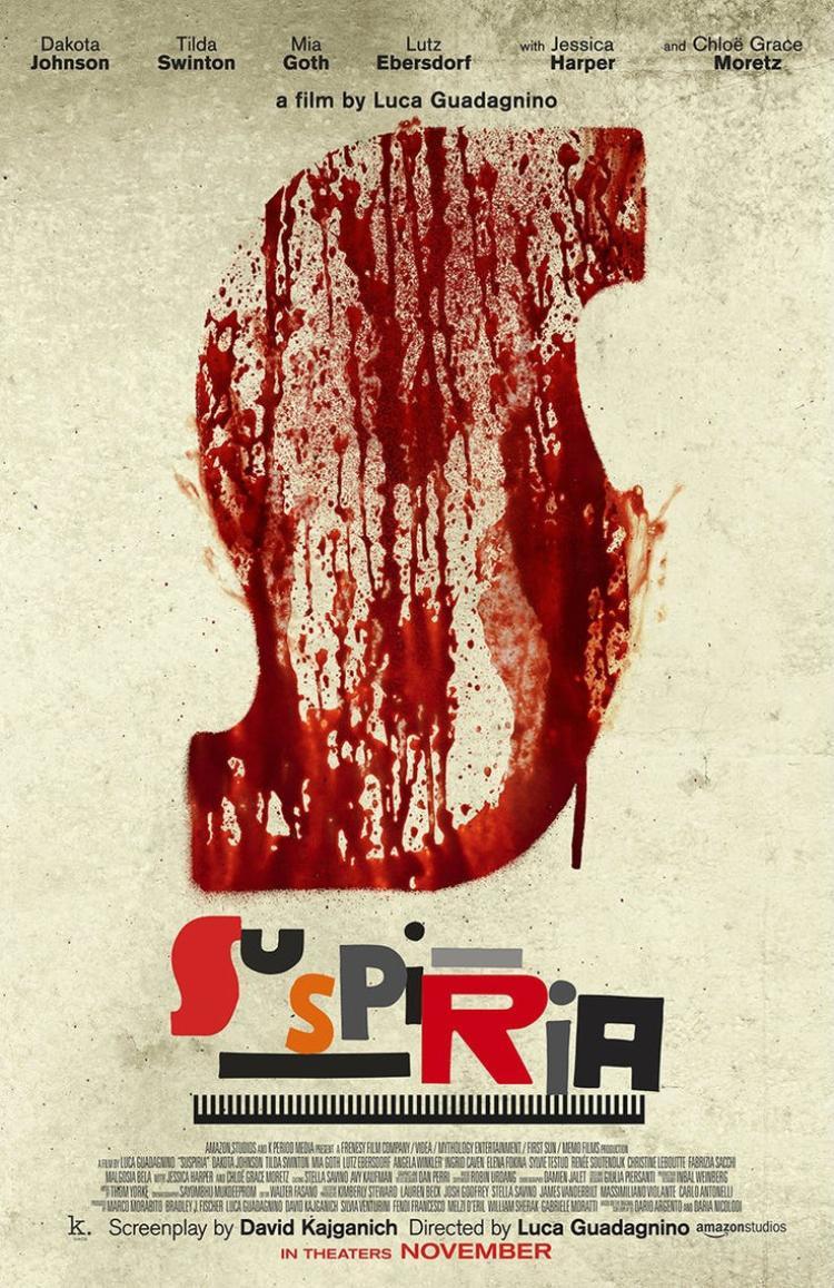 Poster chính thức của Suspiria.