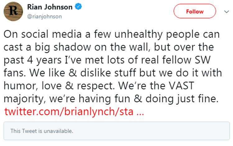Twitter của nam đạo diễn.
