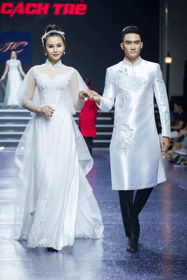 Những thiết kế áo dài mang dáng dấp váy cưới sẽ là sự lựa chọn mới mẻ cho các tân nương, đem đến cảm giác mới mẻ trong cái cũ.
