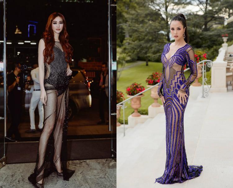 Xét về ngoại hình của hai chân dài này, họ đều sở hữu số đo mơ ước. Chính vì vậy phong cách thời trang sự kiện khá giống nhau. Những thiết kế khoe đường cong, nửa kín nửa hở rất được lòng hai nữ diễn viên.