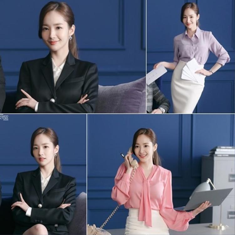 Soi thời trang công sở lung linh của nữ hoàng dao kéo trong phim mới cùng Park Seo Joon