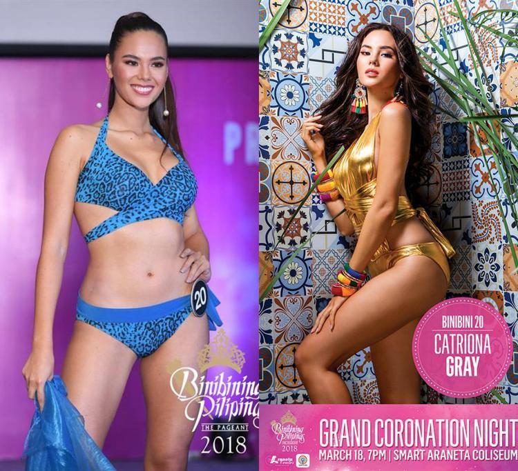 """Thế mạnh của Catriona Gray là gương mặt xinh đẹp, chiều cao tốt 1m80 cùng độ nổi tiếng nhất định. Tuy có hình thể săn chắc nhưng so với các đại diện khác trong danh sách này, mỹ nhân Philippines đành phải """"nhượng bộ"""" bởi thiếu một chút sự cân đối."""