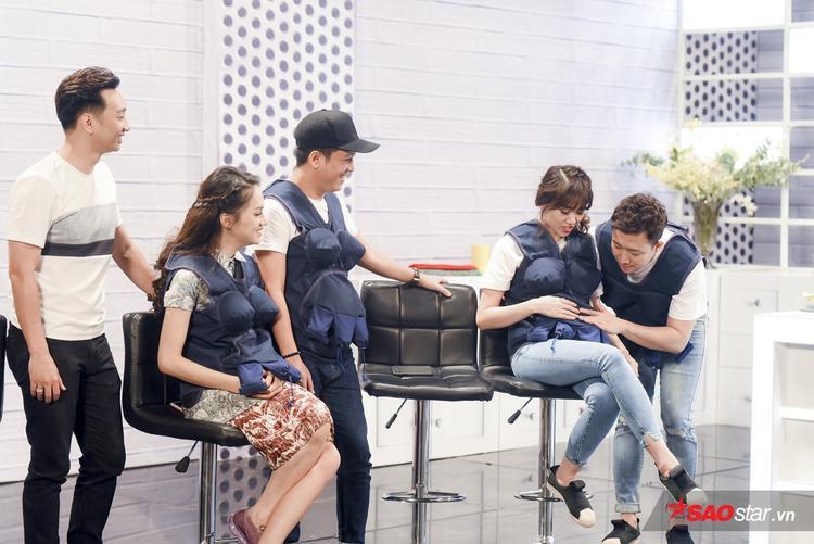 Khi được Hương Giang tư vấn, Trấn Thành cũng nhanh chóng tương tác với con. Thậm chí, đặt tên cho con trai lẫn con gái khiến khán giả không khỏi phì cười.