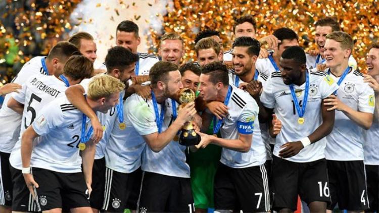 Đức vô địch Confederations Cup 2017 được xem là lời nguyền nhưng họ chỉ đá với đội hình dự bị.