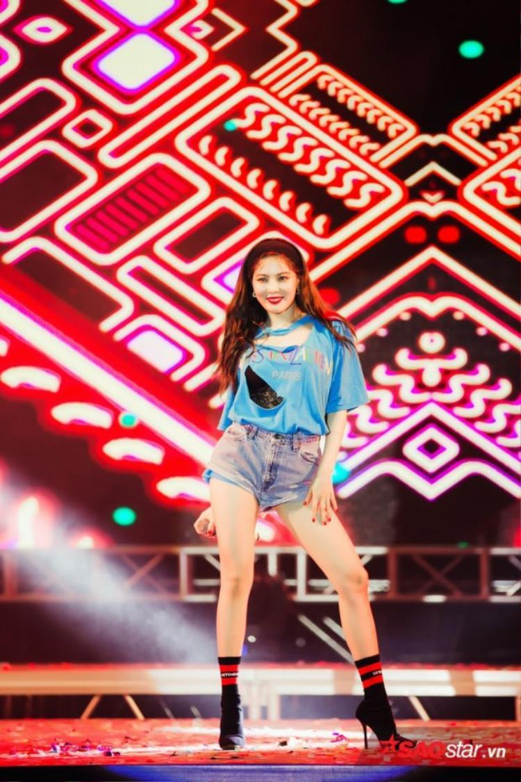 HyunA xinh đẹp xuất hiện trong đêm diễn ra sự kiện K-Food Fair 2018.