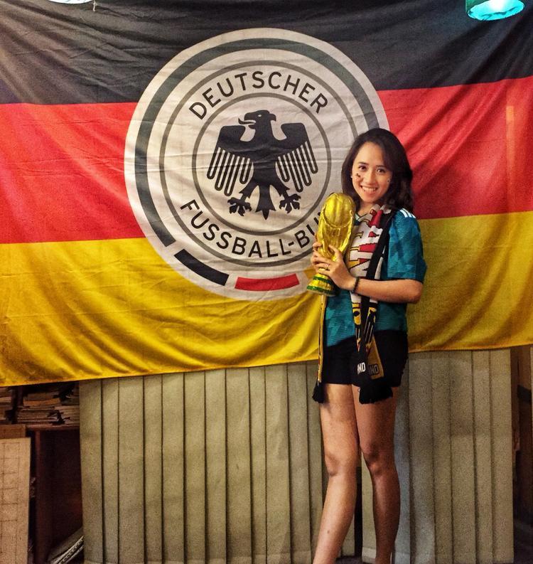 Vương Tử Quyên yêu tuyển Đức và Bayern Munich.
