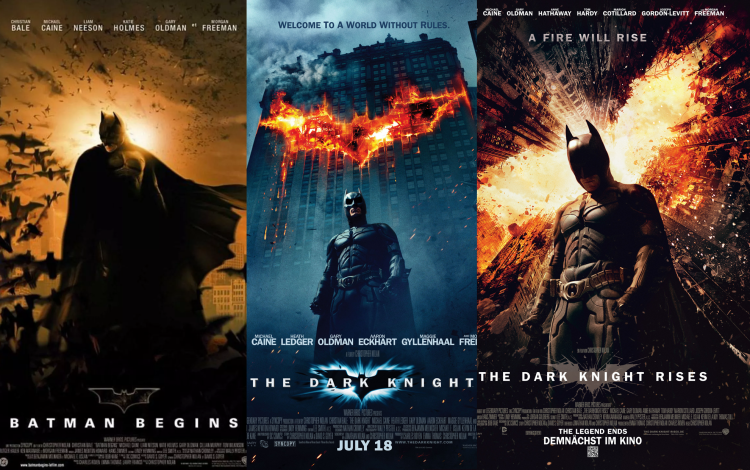 The Dark Knight Trilogy bao gồm: Batman Begins (2005), The Dark Knight (2008) và The Dark Knight Rises (2012)