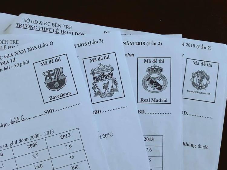 Bộ mã đề mang tên các đội bóng nổi tiếng. Ảnh: Nguyễn Quốc Duy