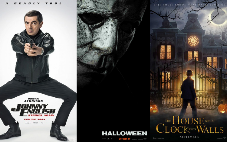 """""""Johnny English: Tái xuất giang hồ"""" (28/9),""""The House with a Clock in Its Walls"""" (21/9) và """"Halloween"""" (19/10)"""
