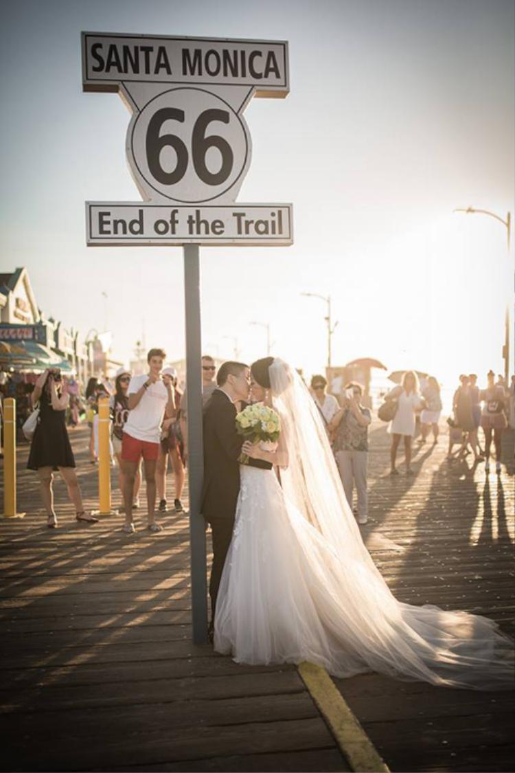 Đám cưới của cả hai tại Mỹ đầu năm nay
