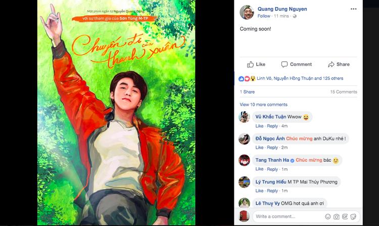 Sơn Tùng đóng phim thanh xuân của Dũng khùng: Ca sĩ trăm triệu view bắt tay với đạo diễn triệu đô