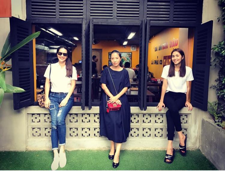 Tăng Thanh Hà và Thân Thuý Hà xuất hiện bên cạnh Thuỳ Trang - vợ Phạm Anh Khoa.