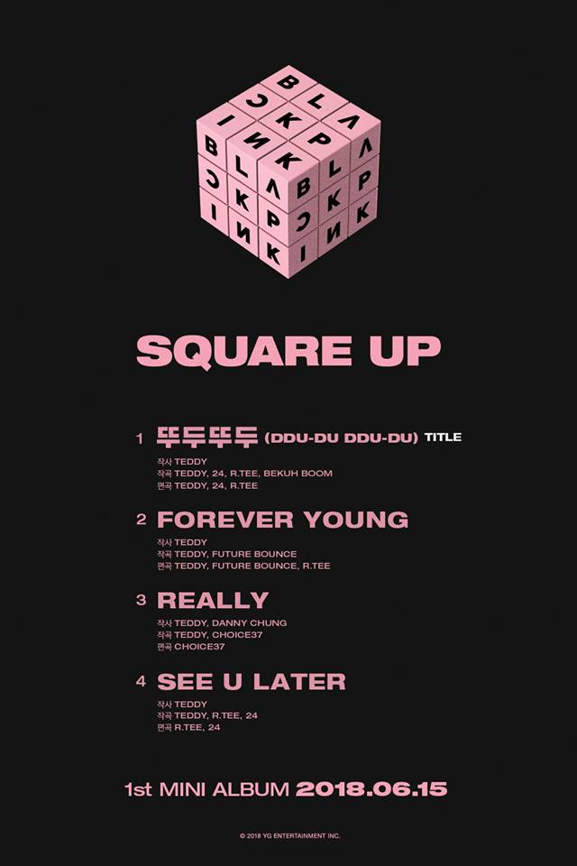 Tracklist mini album Square Up.