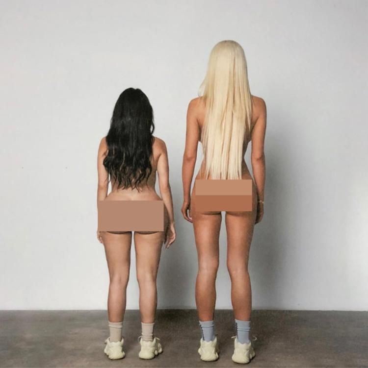 Anh thậm chí còn tạo hình cho một diễn viên trong hình ảnh vợ mình - Kim Kardashian trong trạng thái nude hoàn toàn.