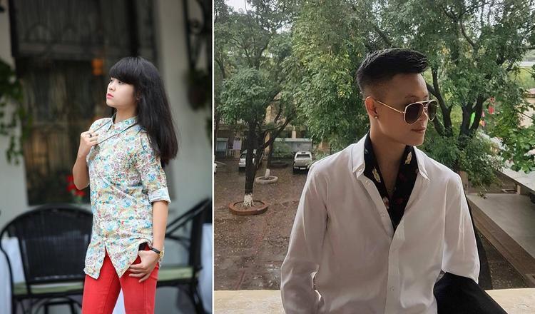 """Vy Hoàng khi còn là con gái (bên trái) và khi đã """"chuyển giới"""""""