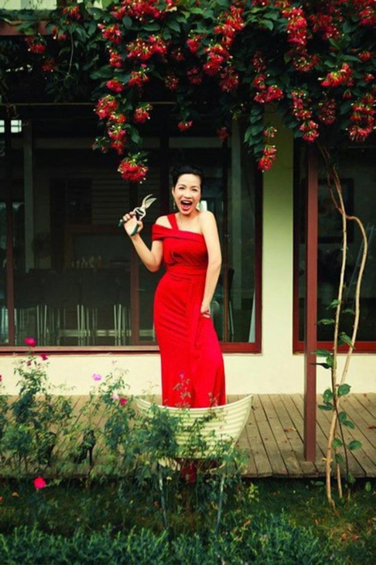 Những bông hoa do chính tay Mỹ Linh chăm sóc.