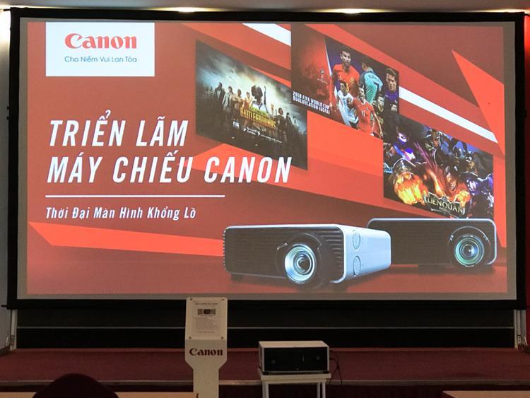 Canon giới thiệu loạt máy chiếu cho gia đình và doanh nghiệp tại Việt Nam