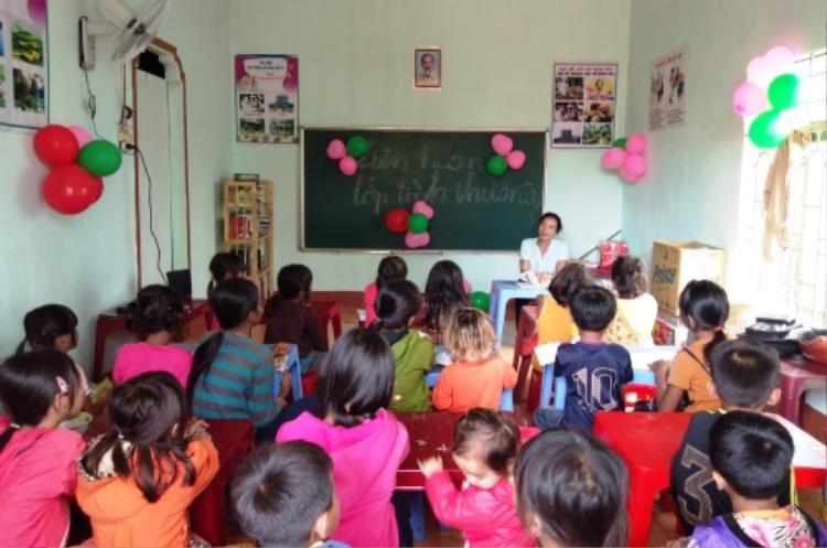 Lớp học của cô giáo Rmah H'Blao. Ảnh: Việt Hiến.