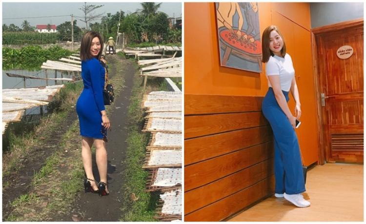 Sở hữu thân hình mơ ước, giờ đây, Trang có thể tự tin diện những trang phục yêu thích.
