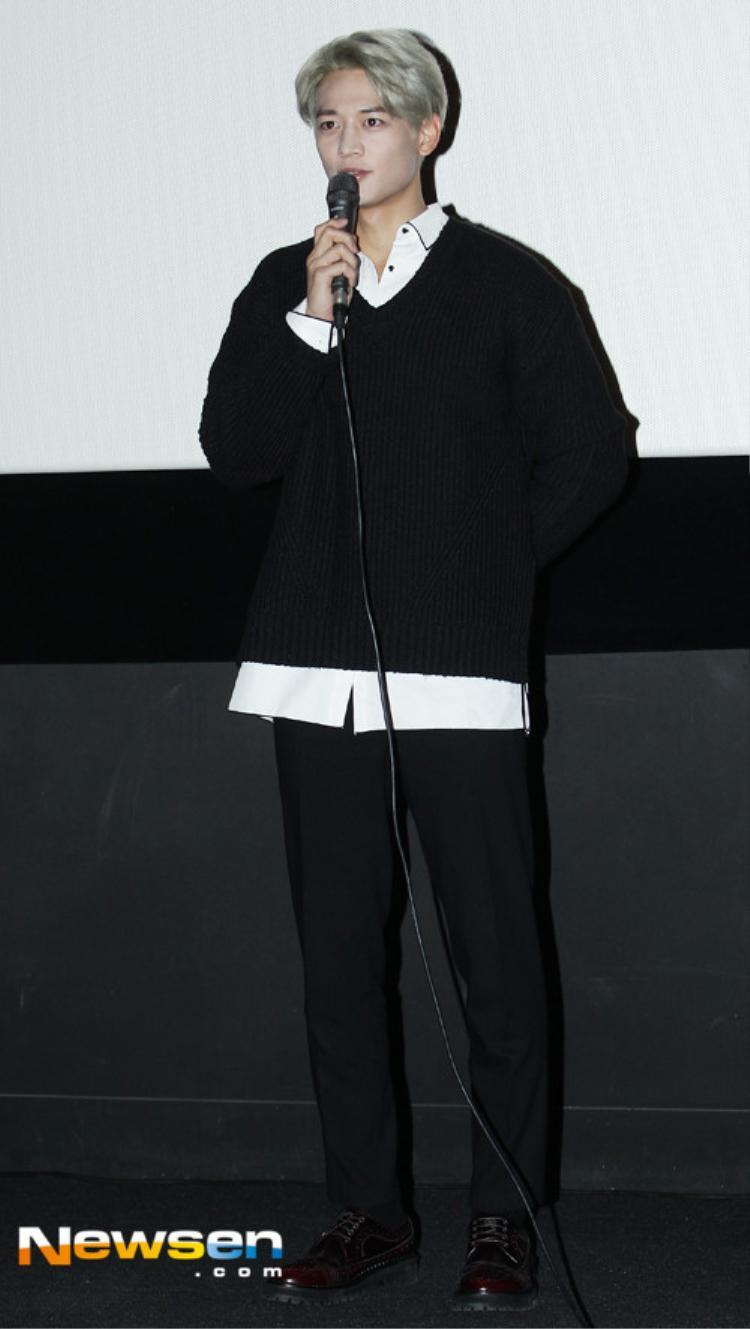 Tại buổi giới thiệu bộ phim Two Men nằm trong khuôn khổ liên hoan phim quốc tế Busan, Minho (SHINee) cũng bị lỗi make-up.