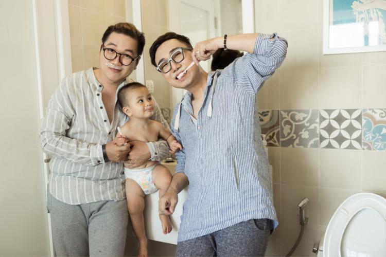 Gia đình nhỏ của Ngọc Tân và Anh Vũ.