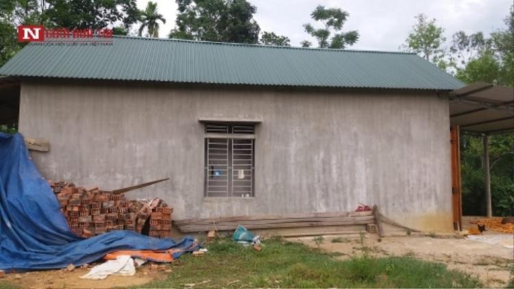 Ngôi nhà của chị Tâm, nơi xảy ra vụ việc. Ảnh: Người đưa tin.