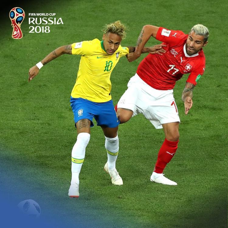 Ngôi sao Neymar bất lực trong ngày Brazil bị Thụy Sỹ cầm hòa 1-1. Ảnh: FIFA