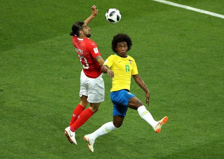 Trận đấu giữa Brazil và Thụy Sỹ diễn ra đầy hấp dẫn. Ở cuộc gặp nhau duy nhất trước đó ở World Cup thì Brazil không thể thắng Thụy Sỹ. Ảnh: FIFA
