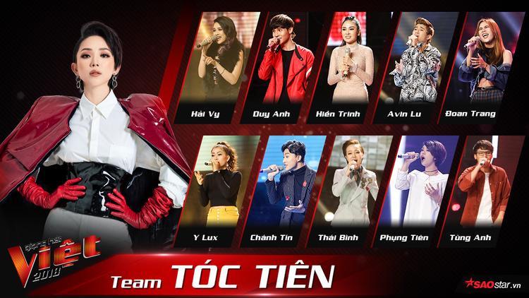 Cuối cùng, bảng phong thần của 4 team The Voice 2018 đã lộ diện hoàn chỉnh!
