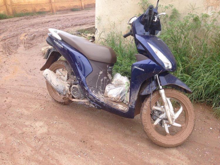 Chiếc xe máy của chị Y. trước khi bị mất trộm.