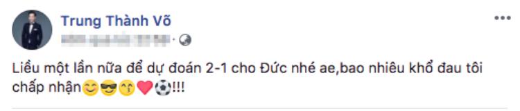 MC Thành Trung cập nhật tình hình World Cup từng giờ.