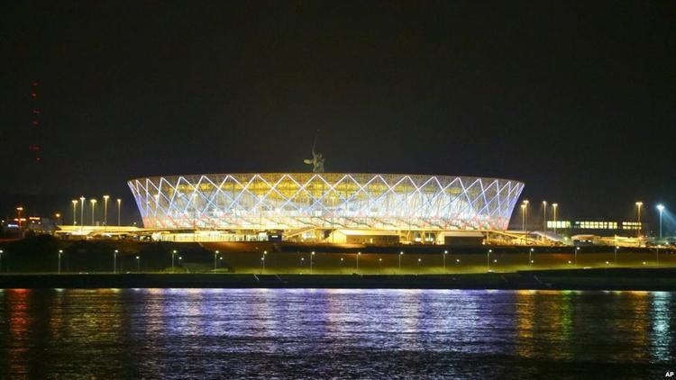SVĐ World Cup mới xây ở thành phố Volgograd của Nga. Ảnh: AFP.