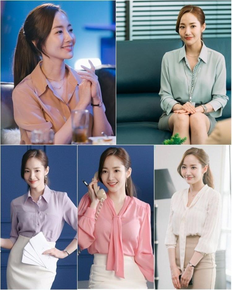"""Style công sở ngọt ngào của """"thư ký Kim"""" khiến các fan lịm tim."""